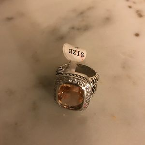 Jewelry - Morganite ring new! Detailed like David yurman